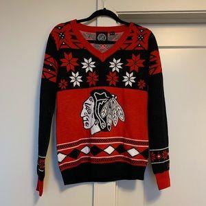 Chicago Blackhawks NHL Christmas sweater